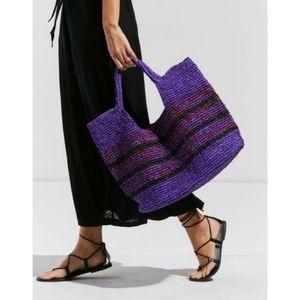 Urban outfitters raffia slouchy bag